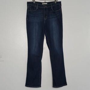 LEVIS 505  straight leg dark wash jeans w/ whisker